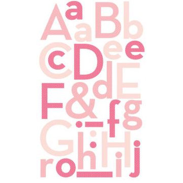 Making Memories - Puffy Alphabet Stickers - Pink, CLEARANCE