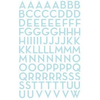 Making Memories - Mini Shimmer Alphabet Stickers - Metro Font - Aqua, CLEARANCE