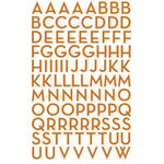 Making Memories - Mini Shimmer Alphabet Stickers - Metro Font - Rust, CLEARANCE