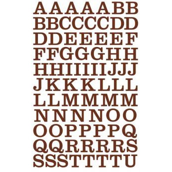 Making Memories - Mini Shimmer Alphabet Stickers - School House Font - Brown, CLEARANCE