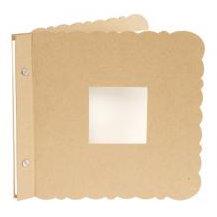 Making Memories - 8x8 Mini Album - Uneven Scallop - Kraft