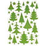Making Memories - Fa La La Collection - Christmas - Glitter Foam Stickers - Trees