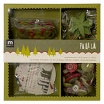 Making Memories - Fa La La Collection - Christmas - Embellishment Box, CLEARANCE