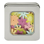 Making Memories - Flower Shop Blossoms Tin Collection - Glitter and Printed Flowers - Funky, CLEARANCE