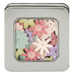 Making Memories - Flower Shop Blossoms Tin Collection - Glitter and Printed Flowers - Pastel