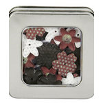 Making Memories - Flower Shop Blossoms Tin Collection - Glitter and Printed Flowers - Red and Black, CLEARANCE