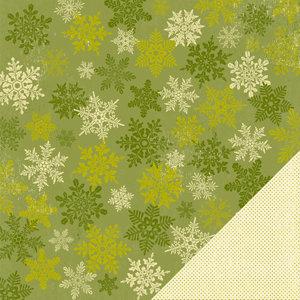 Making Memories - Fa La La Collection - Christmas - 12 x 12 Double Sided Paper - Snowflake