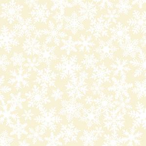 Making Memories - Fa La La Collection - Christmas - 12 x 12 Flocked Vellum Paper - Snowflake
