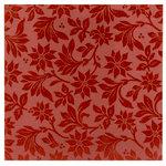 Making Memories - Fa La La Collection - Christmas - 12 x 12 Glittered Paper - Poinsettia Red