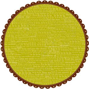 Making Memories - Fa La La Collection - Christmas - 12 x 12 Scallop Circle Paper - Fa La La, CLEARANCE