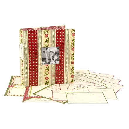 Making Memories - Fa La La Collection - Christmas - Recipe Book Album Kit