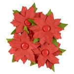 Making Memories - Fa La La Collection - Christmas - Blossoms - Red Poinsettias
