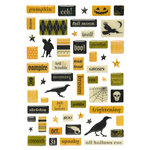 Making Memories - Spellbound Halloween Collection - Glitter Pebble Stickers, CLEARANCE