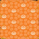 Making Memories - Spellbound Halloween Collection - 12 x 12 Die Cut Paper - Pumpkins, CLEARANCE