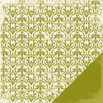 Making Memories - Paperie Greenhouse Collection - 12 x 12 Double Sided Paper - Fabric Brocade, CLEARANCE