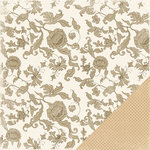 Making Memories - Paperie Mocha Collection - 12 x 12 Double Sided Paper - Toile, CLEARANCE