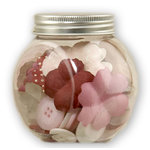 Making Memories - Paperie Collection - Blossom and Button Jar - Rouge, CLEARANCE