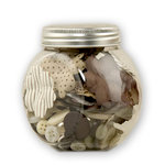 Making Memories - Paperie Collection - Blossom and Button Jar - Mocha