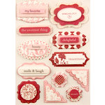 Making Memories - Paperie Collection - Dimensional Stickers - Rouge, CLEARANCE