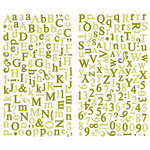 Making Memories - Paperie Collection - Shimmer Alphabet Stickers - Greenhouse, CLEARANCE