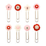 Making Memories - Paperie Collection - Felt Clips - Rouge, CLEARANCE