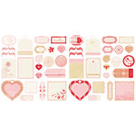 Making Memories - Love Notes Collection - Die Cut Tags, CLEARANCE