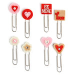 Making Memories - Love Notes Collection - Heart Shape Clips, CLEARANCE