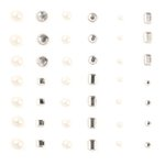 Making Memories - I Do Collection - Self Adhesive Gems and Pearls, CLEARANCE