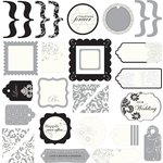 Making Memories - I Do Collection - Glitter Die Cuts, CLEARANCE