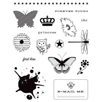 Making Memories - Just Chillin Girl Collection - Clear Acrylic Stamps, CLEARANCE