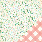 Making Memories - Flower Patch Collection - 12 x 12 Double Sided Paper - Small Floral Flower Patch, CLEARANCE