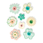Making Memories - Flower Patch Collection - Layered Buttons, CLEARANCE
