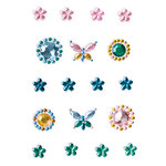 Making Memories - Flower Patch Collection - Flower Gem Stickers, CLEARANCE