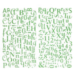 Making Memories - Flower Patch Collection - Glitter Alphabet Stickers, CLEARANCE