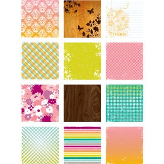 Making Memories - Just Chillin Girl Collection - 6 x 6 Paper Pad , CLEARANCE