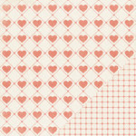 Making Memories - Love Notes Collection - 12 x12 Double Sided Paper - Stitched Heart, CLEARANCE
