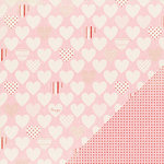 Making Memories - Love Notes Collection - 12 x12 Double Sided Paper - Patterned Heart, CLEARANCE