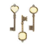 Making Memories - Metal Pebble Keys - Ledger, CLEARANCE