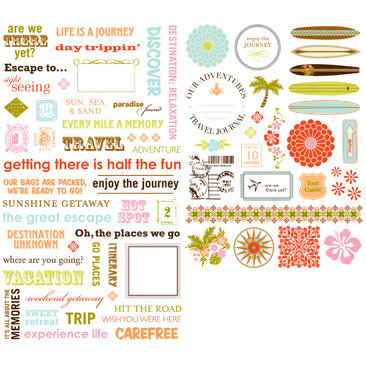 Making Memories - Great Escape Collection - Rub Ons, CLEARANCE