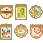 Making Memories - Great Escape Collection - Epoxy Clips, CLEARANCE