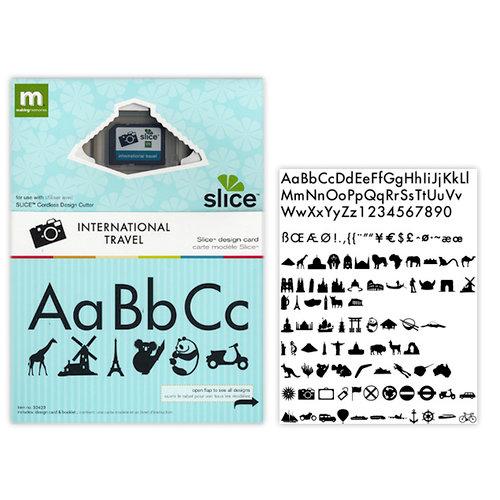 Making Memories - Slice Design Card - International Travel