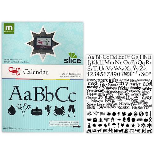Making Memories - Slice Design Card - Calendar
