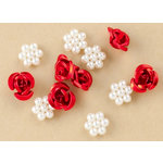 Making Memories - Vintage Findings Collection - Metal and Pearl Flowers