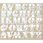 Making Memories - Vintage Findings Collection - Metallic Embossed Alphabet - Silver, CLEARANCE