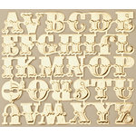 Making Memories - Vintage Findings Collection - Metallic Embossed Alphabet - Gold , CLEARANCE