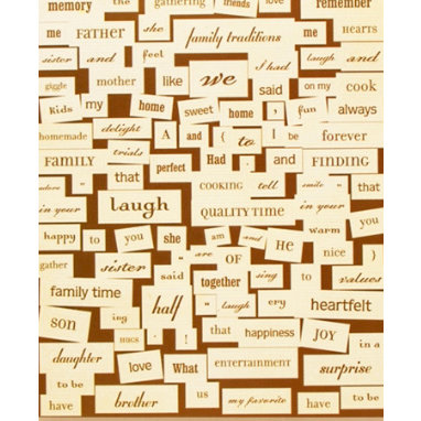 Making Memories - Vintage Findings Collection - Stickers - Word Fetti - Family