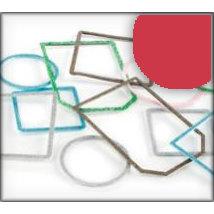 Making Memories - Slice Tagmaker Rims - Glitter Multipack - Red
