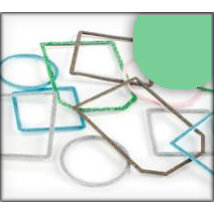 Making Memories - Slice Tagmaker Rims - Glitter Multipack - Green