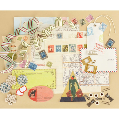Making Memories - Vintage Findings Collection - Large Kits - Travel