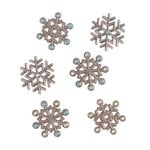Making Memories - Embossed Metal Snowflakes - Antique Silver, CLEARANCE